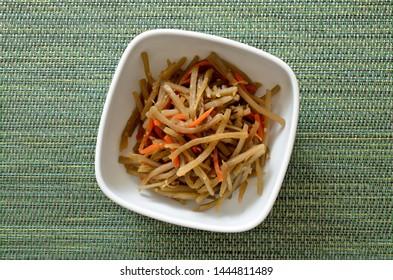Kinpira gobo, A traditional japanese dish with burdock root