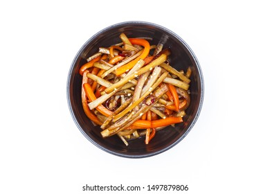 Kinpira: Kinpira is Japanese cuisine: The Picture is Kinpira gobo: The Kinpira gobo is one of Kinpiras that make from great burdock and carrot.
