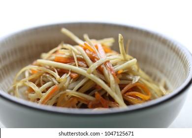 kinpira-style sauteed burdock; kimpira gobo