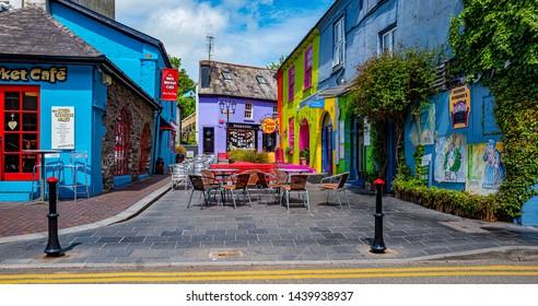 KINSALE, IRELAND, CIRCA MAY 2019. Colourful Kinsale village on a bright sunny day. Ireland 2019