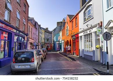 KINSALE, Ireland - June 4, 2016: View of Market St in Kinsale, County Cork, Ireland