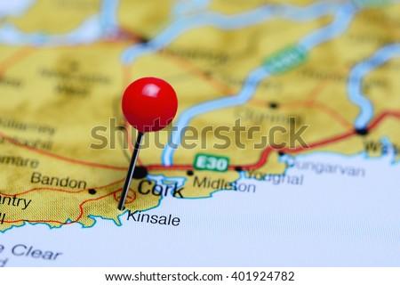 Kinsale Pinned On Map Ireland Stock Photo Edit Now 401924782