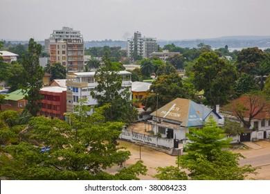 KINSHASA, DEMOCRATIC REPUBLIC OF CONGO - CIRCA, SEPTEMBER 2008. UNICEF mission against tetanus. City Center of Kinshasa - the capital of DRC