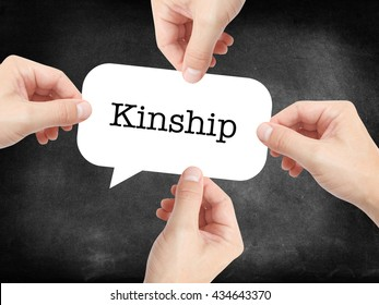 Kinship written on a speechbubble