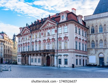 Kinsky palace on Old town square in Stare Mesto, Prague, Czech Republic - Shutterstock ID 1740526637