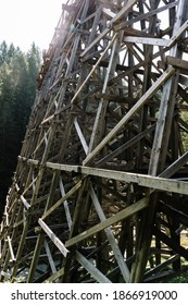 Kinsol Trestle or Koksilah River Trestle, a historic wooden railway trestle in Shawnigan lake on Vancouver Island, British Columbia, Canada