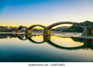 The Kintai Bridge at Iwakuni, Japan