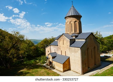 Kintsvisi church and monastery complex landmark in  Shida Kartli region of Georgia