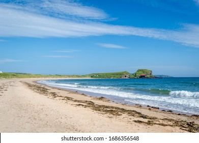 Kintyre peninsula sand beach landscape, Scotland
