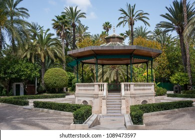 Kiosk for musicians in the gardens of El Palmeral de Elche in the province of Alicante, Spain