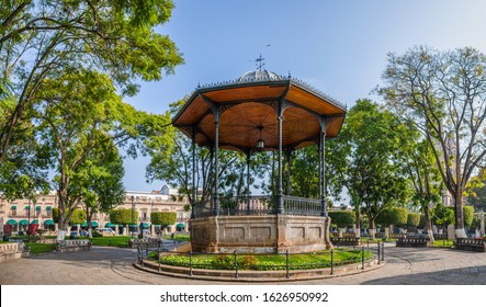 The Kiosk in the plaza de Armas of Morelia, in the State of Michoacan, Mexico