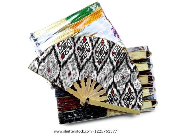 Kipas Tangan Motif Batik Hand Fan Stock Photo (Edit Now