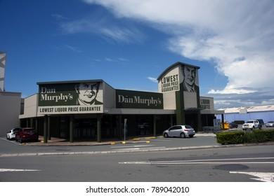Kippa-Ring, Queensland, Australia - December 2017: Dan Murphy's Liquor retail store at Peninsula Fair Shopping Centre. Dan Murphy's is owned by Woolworths Australia