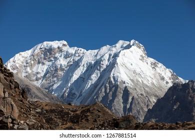 Kirat peak and Nepal peak in Kanchenjunga region of Nepal.