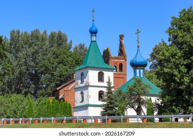 Kirche Kraupischken and new church. Uljanowo village, Kaliningrad region - Shutterstock ID 2026167209