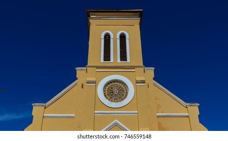 Kirche Notre Dame. La Digue island. Seychelles