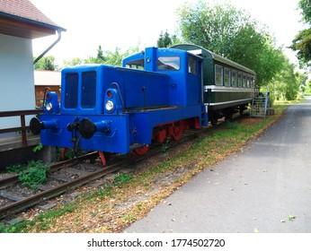 Kirchheilingen, Germany - September 5, 2016: The small train pension in Kirchheilingen, Thuringia, on September 5, 2016.