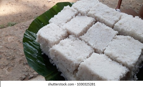 """Kiribath"", The milk rice is a traditional Sri Lankan food made from rice and coconut milk."