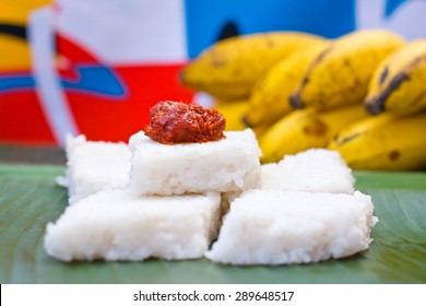 Kiribath, The milk rice is a traditional Sri Lankan food made from rice and coconut milk which is used to be a main food on any cultural ceremony or occasion in Sri Lanka