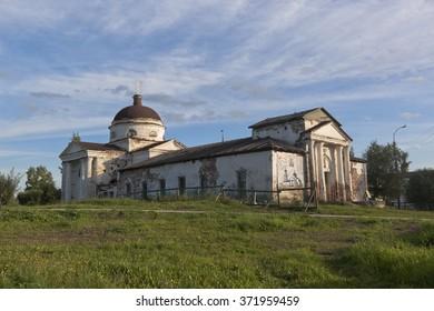 Kirillov, Vologda region, Russia - August 9, 2015: Kazansky Cathedral town of Kirillov in Vologda region