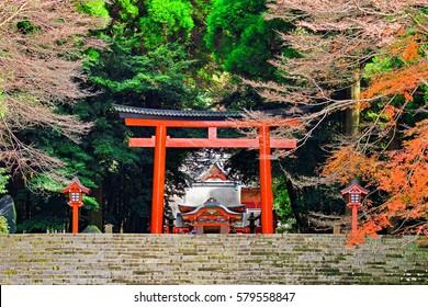 Kirishima shinto shrine, Japan, Kagoshima prefecture