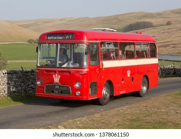 KIRKBY STEPHEN ENGLAND, April 20 2019. Ex Western Welsh 1960 Albion Nimbus coach with Harrington body on a preserved passenger bus service,