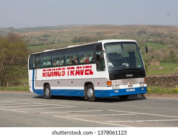 KIRKBY STEPHEN ENGLAND, April 21 2019. 1988 Leyland Royal Tiger coach with Leyland body on a preserved passenger bus service