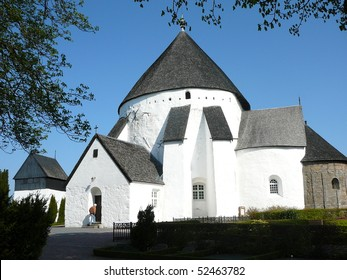 O?sterlars Kirke (Round Church), the Oldest of the Four Round Churches on Bornholm Island