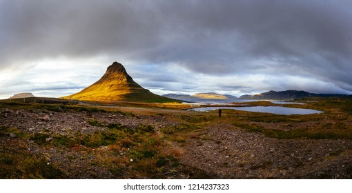 Kirkjufell in northern Iceland.