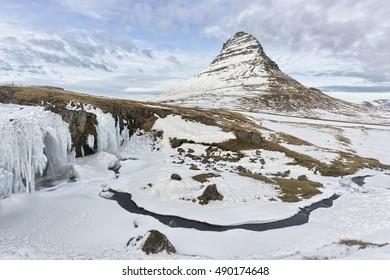 Kirkjufellsfoss and Kirkjufell, Grundarfjordur, Iceland