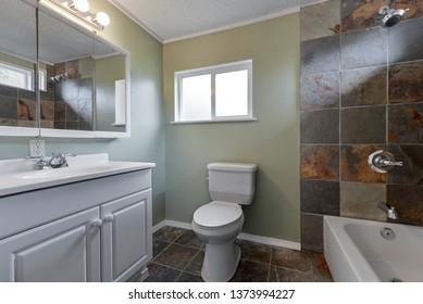 Kirkland, WA / USA - April 11, 2019: Modern bathroom interior