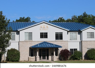 Kirksville, Missouri USA - August 4, 2019: Alpha Kappa Lambda - Xi Chapter house at Truman State University