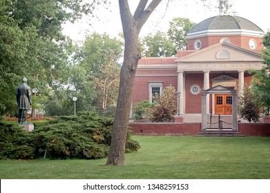 Kirksville, Missouri / USA - May 27 2018: Truman State University Quad
