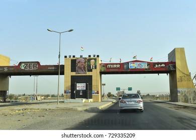 KIRKUK,IRAQ- SEPTEMBER 25 :Daily life in Kirkuk September 25, 2017 in Kirkuk,Iraq. City entrance