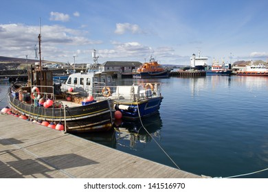 KIRKWALL, ORKNEY, SCOTLAND - MARCH 30: Kirkwall, Orkney's largest town and Capital on March 30, 2013 in Kirkwall.