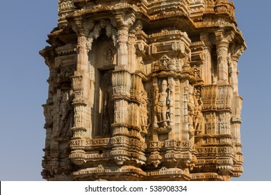 Kirti Stambha (Tower of Fame) in fortress of Chittor (Chittorgarh) in Rajasthan. Chittorgarh is the largest fort in India & the largest in entire Asia, it's a UNESCO World Heritage Site.