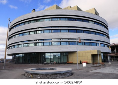 KIRUNA, LAPLAND / SWEDEN - MAY 16 2019:  Kiruna new Town Hall  is the administrative and cultural centre of Kiruna, Sweden