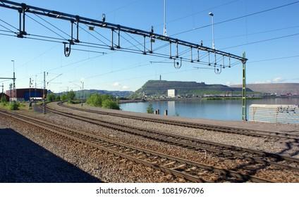 Kiruna railway yard in summer