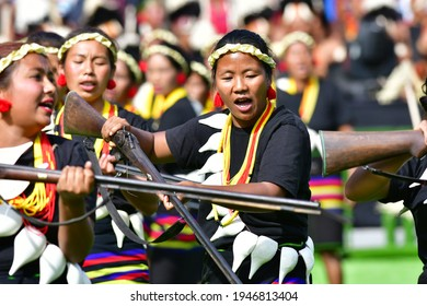 Kisama, Nagaland, India dated 02.12.2019. It was taken from the Hornbill festival 2019. Its a Traditional festival to showcase the culture and heritage of Naga tribes.
