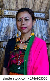 Kisama, Nagaland, India dated 02.12.2019. portrait taken from the Hornbill festival 2019. Its a Traditional festival to showcase the culture and heritage of Naga tribes