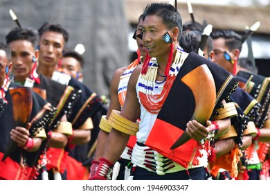 Kisama, Nagaland, India dated 02.12.2019. It was taken from the Hornbill festival 2019. Its a Traditional festival to showcase the culture and heritage of Naga tribes