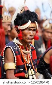 Kisama Villege, Nagaland, India -120518 Hornbill festival held at Kisama Vilege to showcase culture of Naga tribes