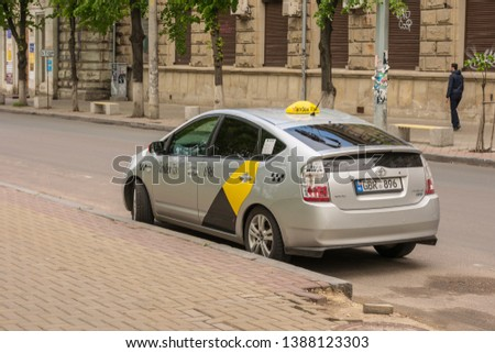 Kishinev Moldova 05012019 Yandex Taxi On Stock Photo (Edit Now