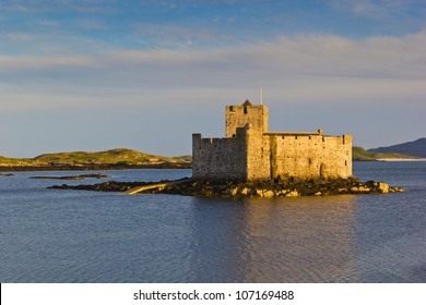 Kisimul Castle, also spelt Kiessimul Castle or Chisimul Castle, is a small medieval castle located in the centre of Castlebay on Barra, an island of the Outer Hebrides, Scotland.