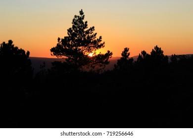 Kislovodsk, the sunset