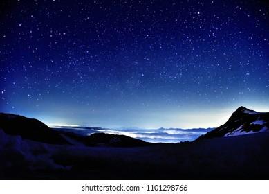 Kiso Komagatake's Starry Sky, Nagano, Japan Alps