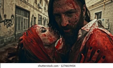 Kiss of vampires. Apocalypse.