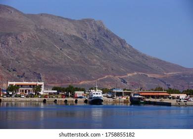 Kissamos / Greece - June 10, 2013: Small port Kissamos.