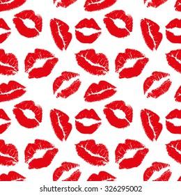 Kisses seamless pattern