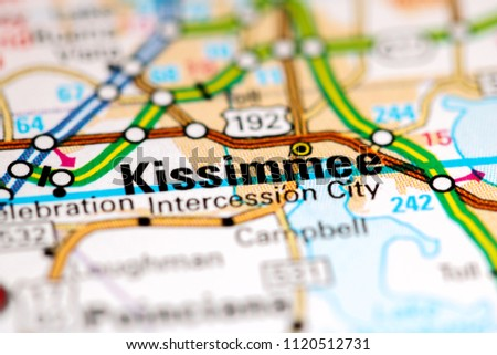 Kissimmee Florida Usa On Map Stock Photo Edit Now 1120512731